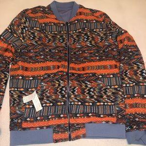 Zara reversible tribal bomber jacket
